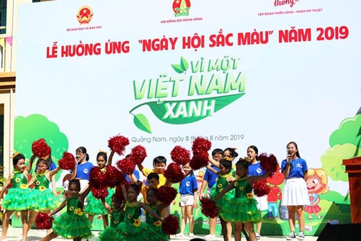 """Thiếu Nhi Quảng Nam Hưởng Ứng Ngày Hội Sắc Màu """"Vì Một Việt Nam Xanh"""""""